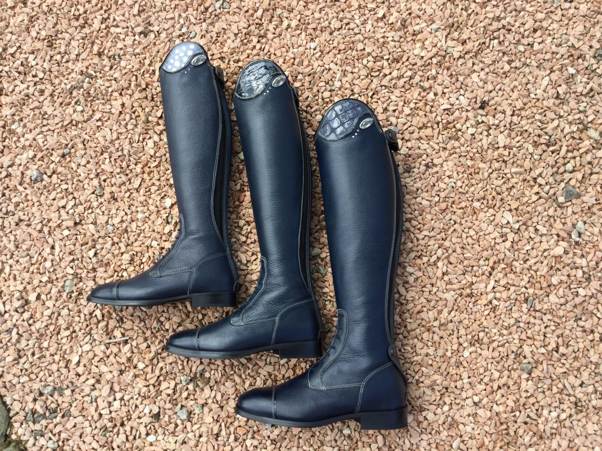 De Niro Boot DE NIRO SALENTINO quick leather BLUE (reliëf leder)