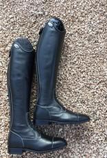 De Niro Boot DE NIRO SALENTINO quick leather BLACK (reliëf leder)