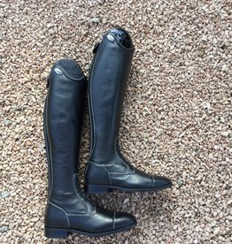 De Niro Boot DE NIRO SALENTINO quick leather BLACK (reliëf leder)
