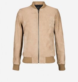 Pure White Pure White 18010407 Suede Bomber Jacket Sand