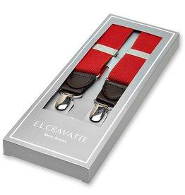 E.L. Cravatte E.L. Cravatte Bretels Rood
