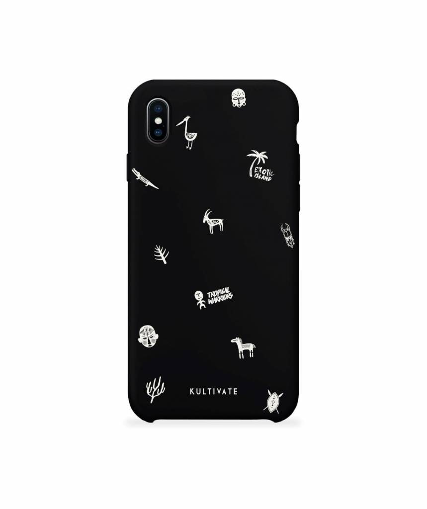 Kultivate Kultivate iPhone X Afro Doodle Case Black One size