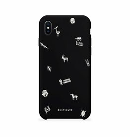 Kultivate Kultivate iPhone 7/8 Plus Afro Doodle Case Black One size