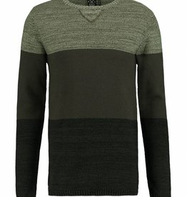 Kultivate Kultivate Colorblock Knit Army Green