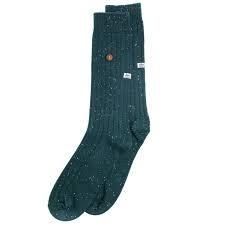 Alfredo Gonzalez Alfredo Gonzales Speckled Cotton Socks Army