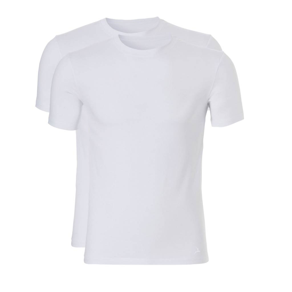 Ten Cate Ten Cate 2-Pack Basic T-Shirt Long Roundneck White