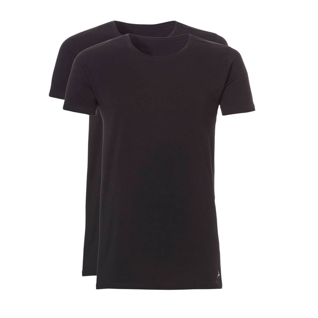 Ten Cate Ten Cate 2-Pack Basic T-Shirt Long Roundneck Black