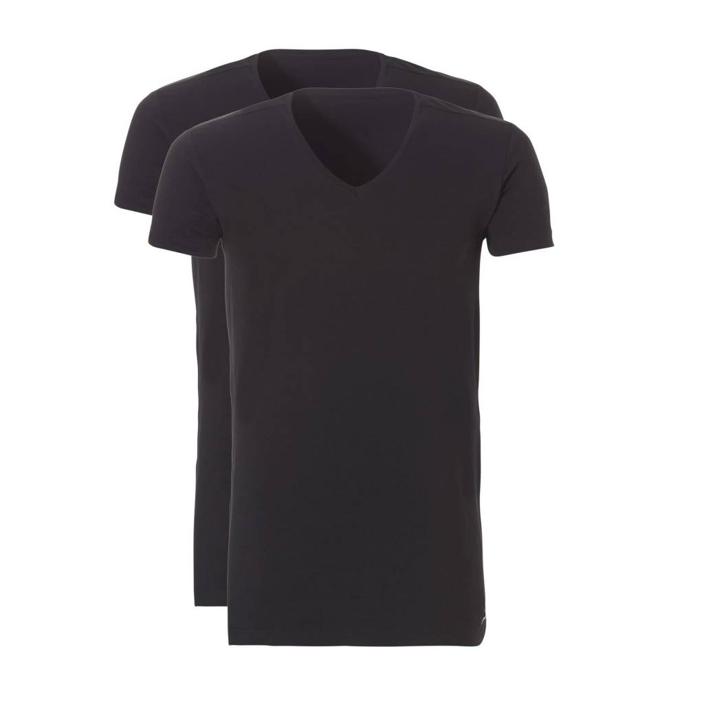 Ten Cate Ten Cate 2-Pack Basic T-Shirt Long V-Neck Black