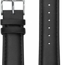 Kane Watches Kane Watch Leather Strap Classic Black Silver Buckle