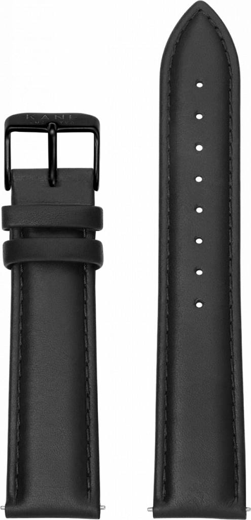 Kane Watches Kane Watch Leather Strap Classic Black Black Buckle
