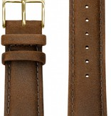 Kane Watches Kane Watch Leather Strap Vintage Brown Gold Buckle