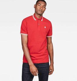 G-Star G-Star Dunda Slim Stripe Polo S/S Red
