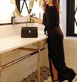 Voyar La Rue Voyar Lurex Dress Black