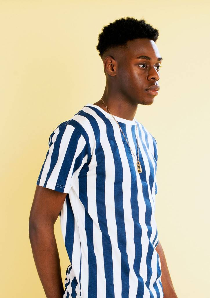 Dedicated Dedicated Stockholm Big Stripes Tee Off White