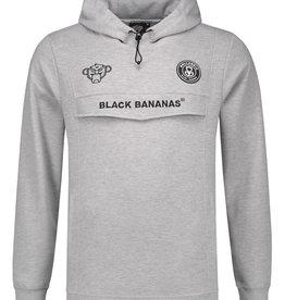 Black Bananas Black Bananas Anorak SS Hoodie Grey