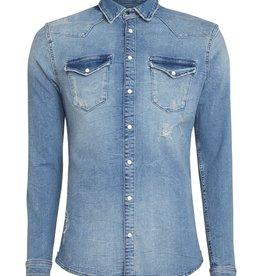 Pure White Pure White 19010227 Denim Shirt Blue