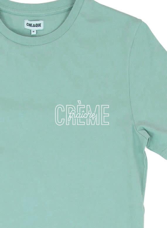 Cheaque Cheaque Crème Fraîche Borstprint Tee Mint