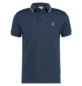Kultivate Kultivate Ananas Chest Melange Polo Dark Navy