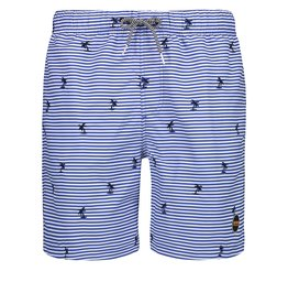 SHIWI Shiwi Striped Palm Swimshort Bali Blue