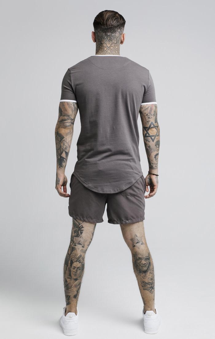 Sik Silk Sik Silk Ringer Gym Tee Grey