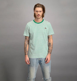 Kultivate Kultivate Sneaker Stripe Tee Off White/Green