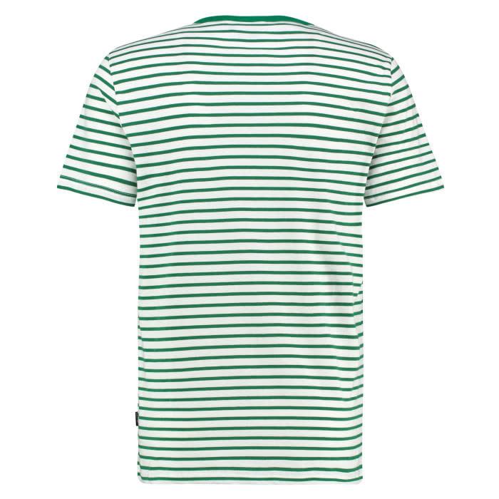 Kultivate Kultivate Sneaker Stripe Tee Off White/Green