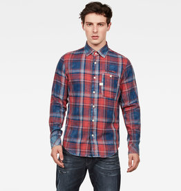G-Star G-Star Bristum 1 Pocket Flannel Check Slim Shirt Red