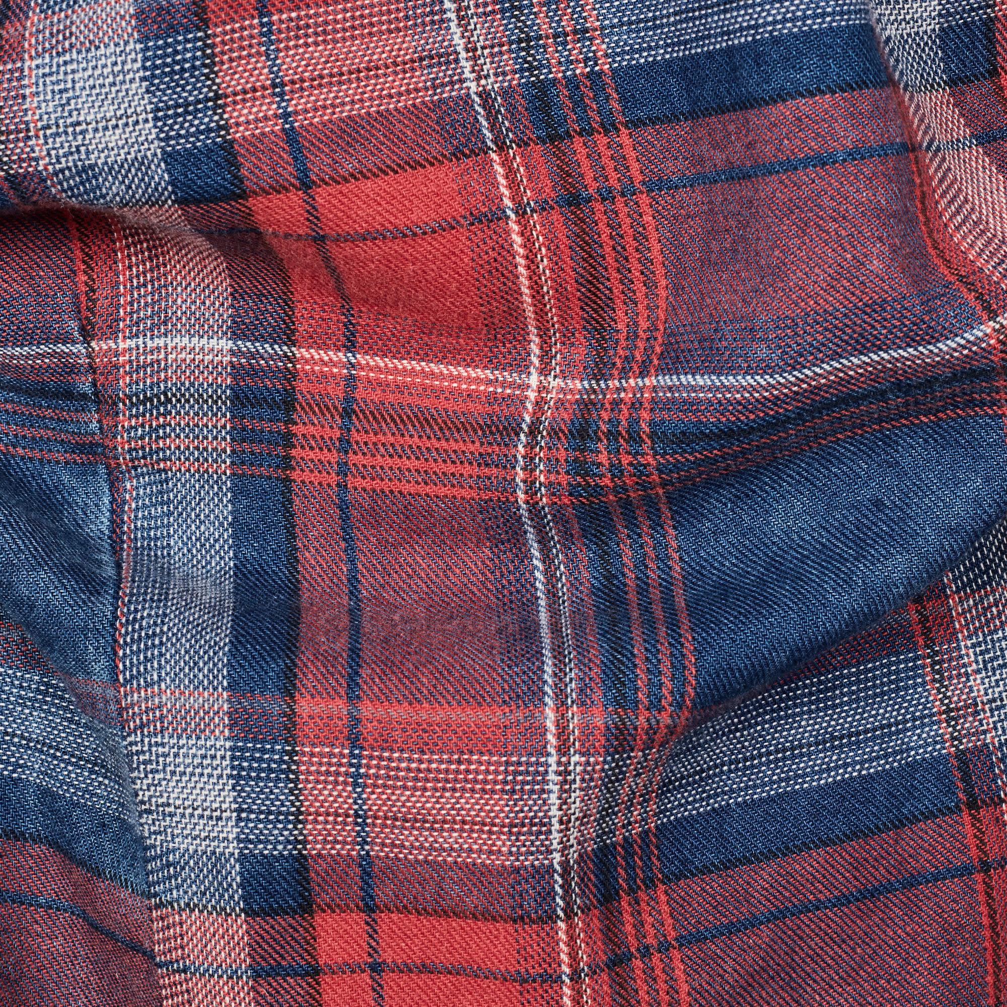 G-Star G-Star Bristum 1 Pocket Flannel Check Slim Shirt Red