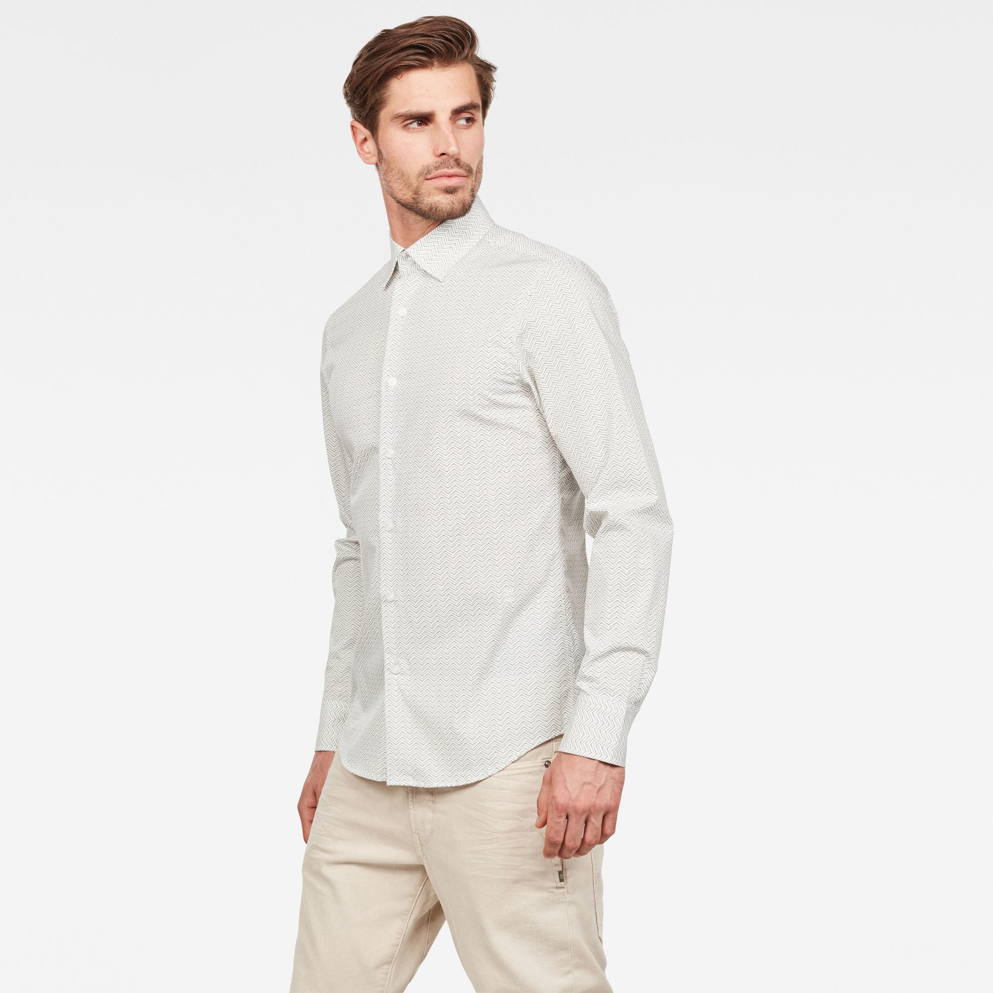 G-Star G-Star Core Super Slim Shirt B554 White/Grey