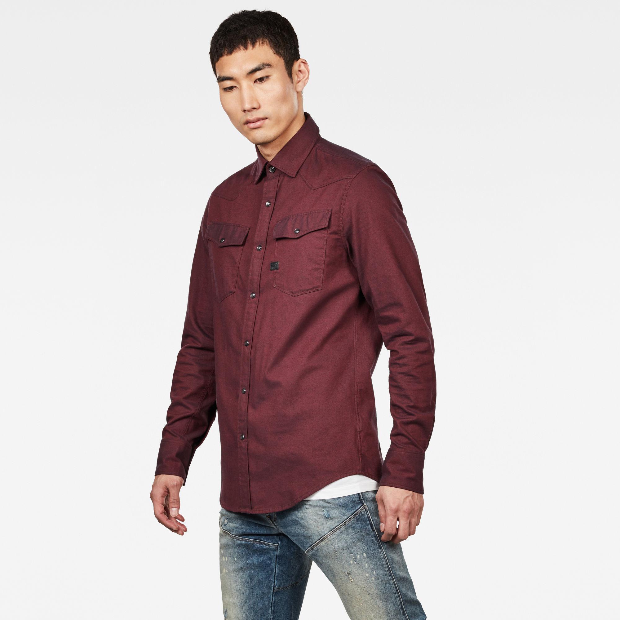 G-Star G-Star 3301 Slim Shirt Burned Red