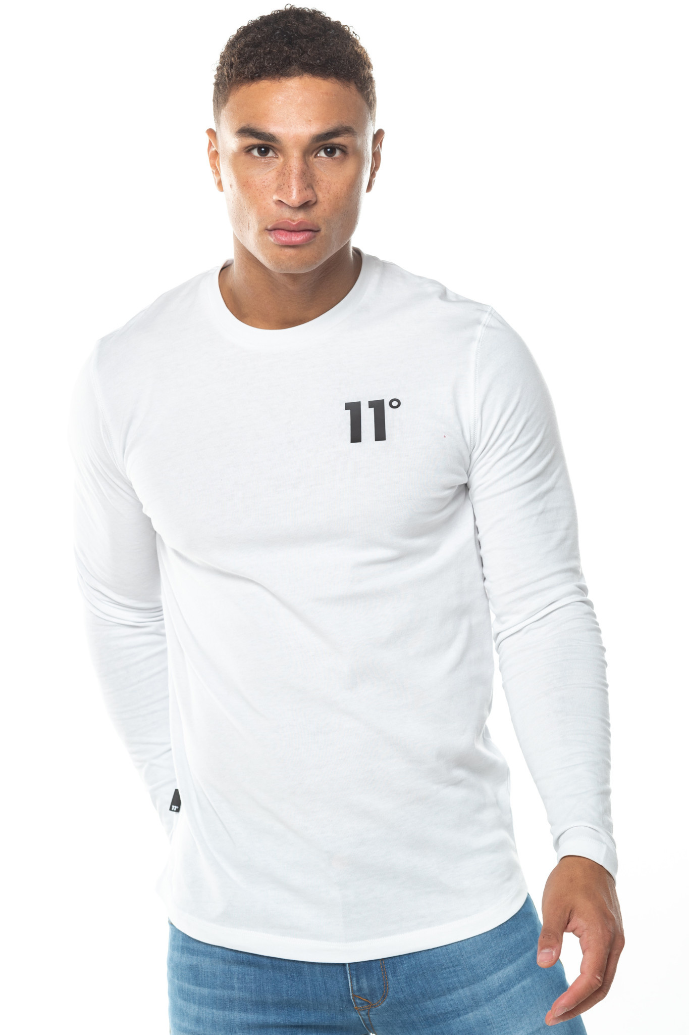 11 Degrees 11 Degrees Core Long Sleeve Tee White
