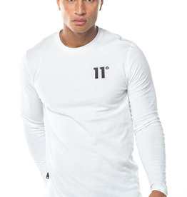 11 Degrees 11 Degrees Core Long Sleeve Tee White