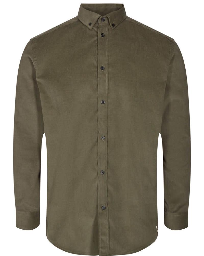 Anerkjendt Anerkjendt Akonrad Corduroy Shirt Cypress Green