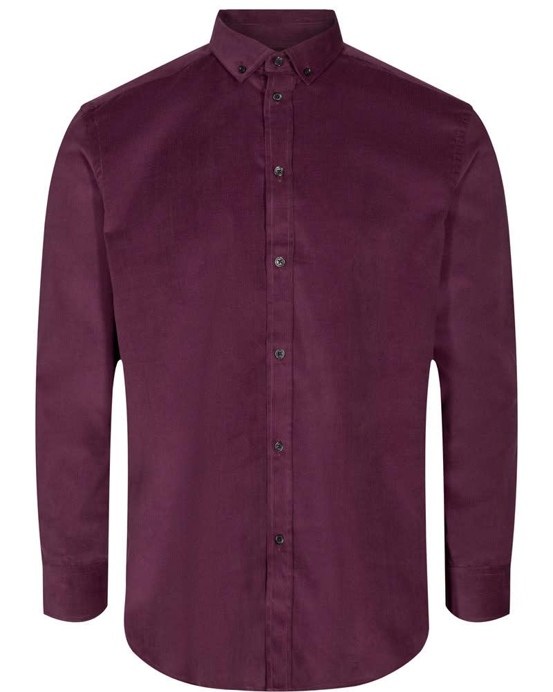 Anerkjendt Anerkjendt Akonrad Corduroy Shirt WIne Red