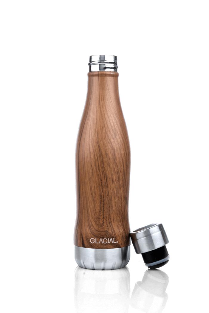Glacial Glacial Teak Wood Bottle 400ML