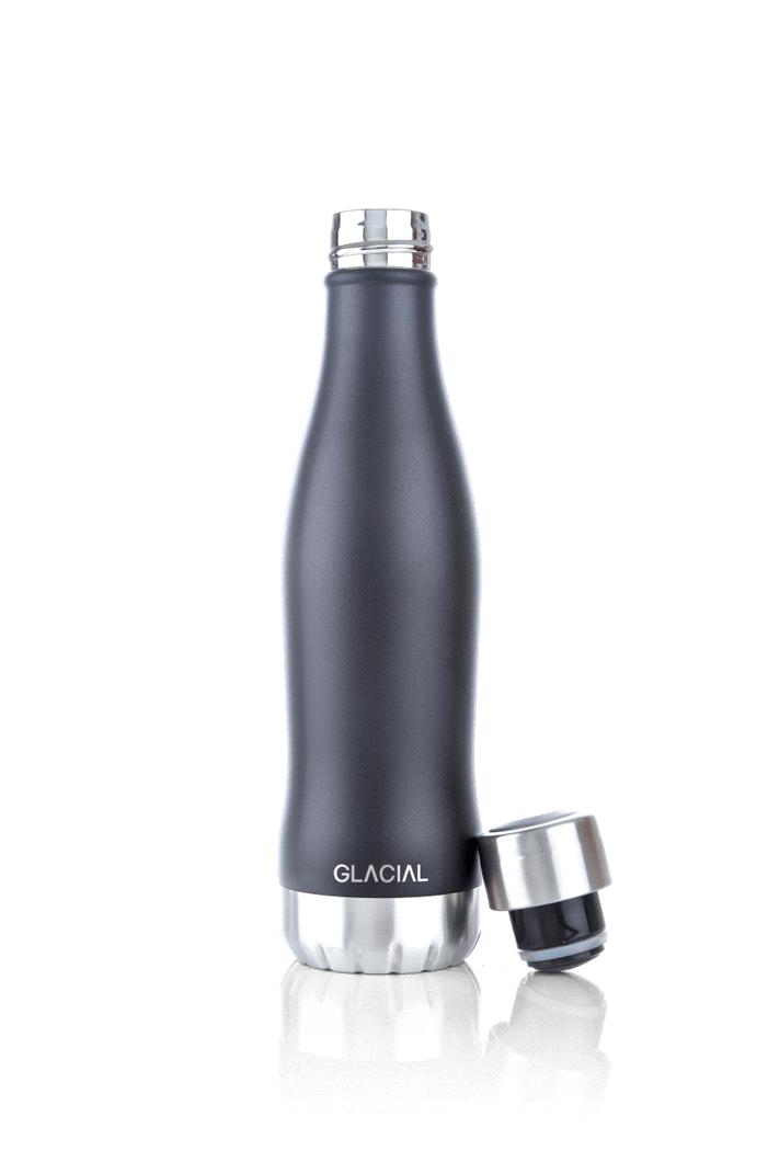 Glacial Glacial Mat Black Bottle 400ML