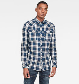 G-Star G-Star 3301 Slim Check Shirt L/S Navy