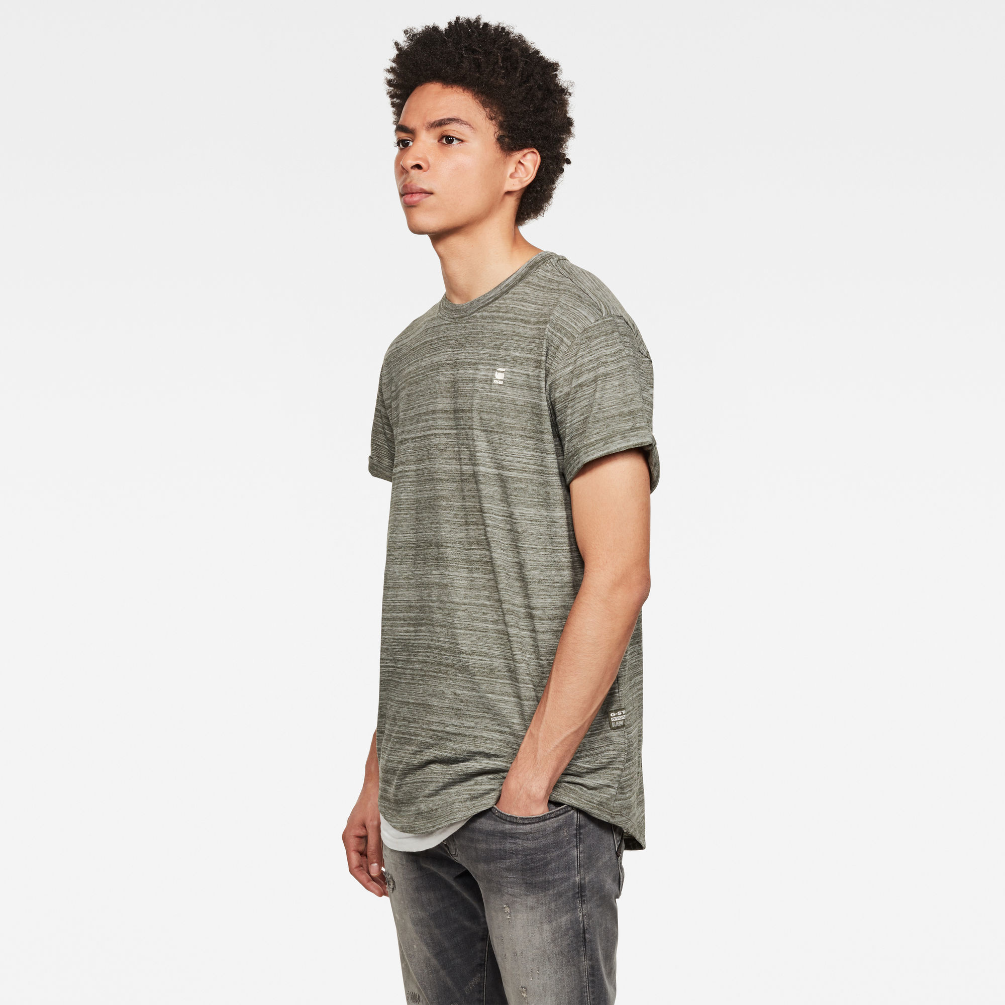 G-Star G-Star Lash R Relaxed Melange Tee Wild Rovic Green