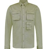 Pure White Pure White 20010201 Denim Shirt Army Green