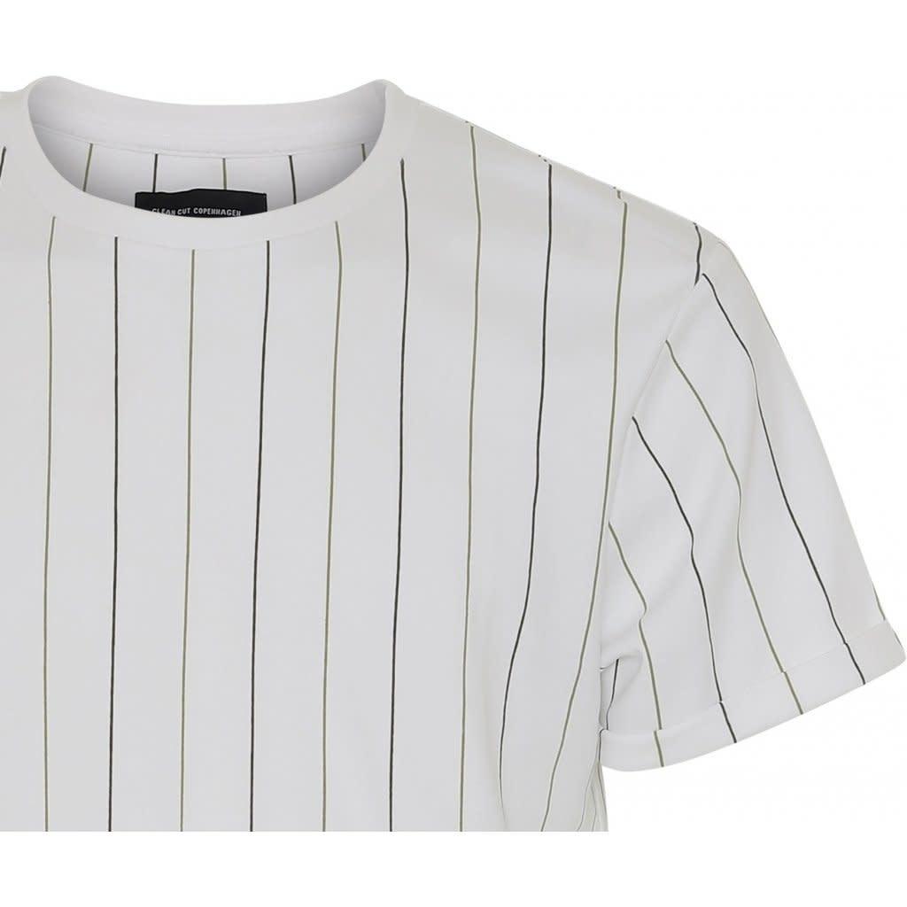 Clean Cut Clean Cut Louis SS Tee Stripe White