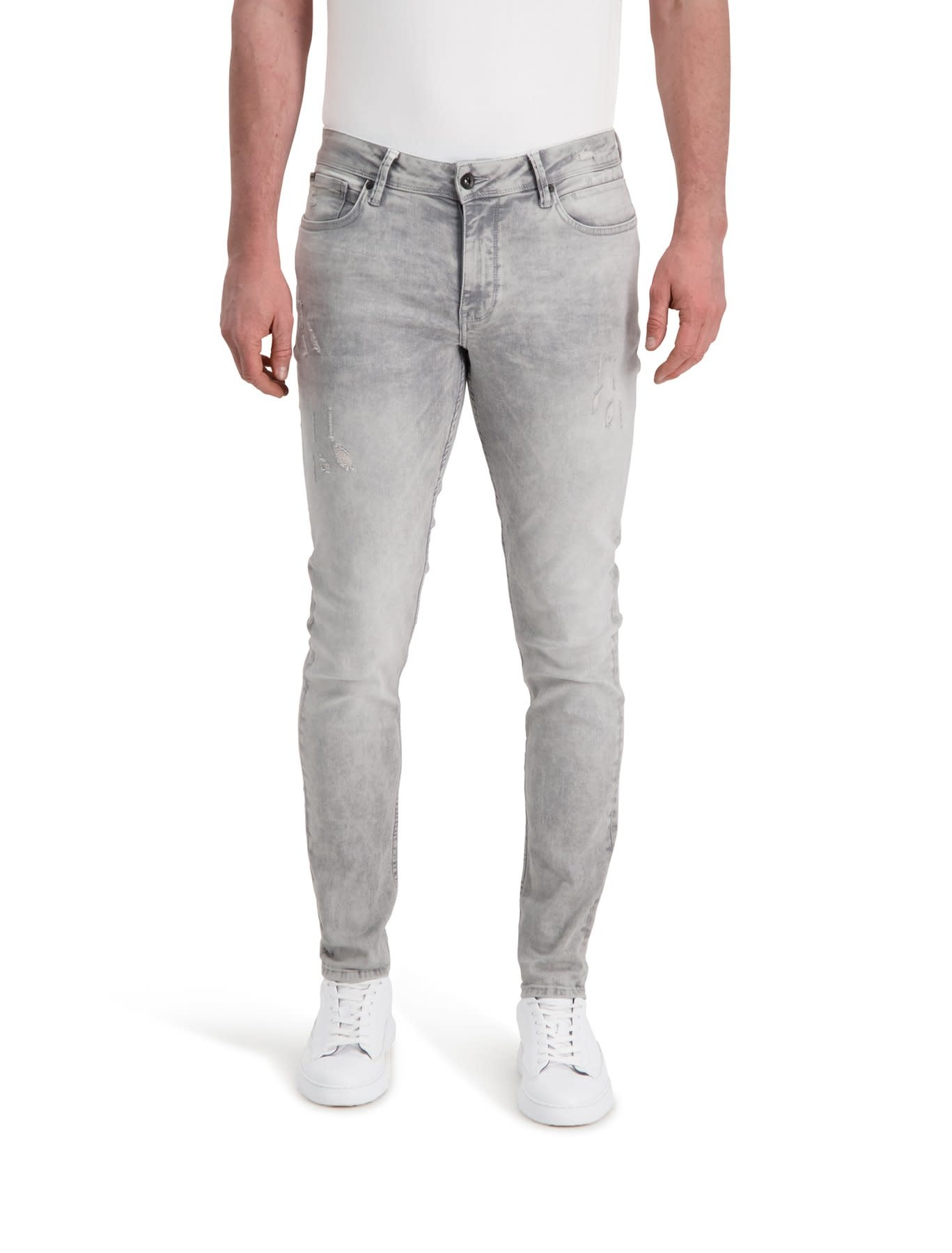 Pure White Pure White The Jone W0482 Jeans Distressed Grey