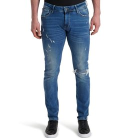 Pure White Pure White The Jone W0465 Jeans Damaged Blue