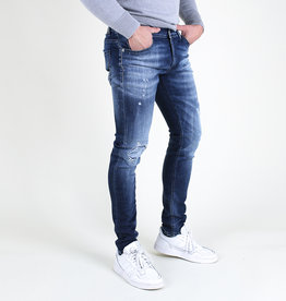 Fifty Four Fifty Four Clops JD81 FA 54 Skinny Jeans Damaged Blue