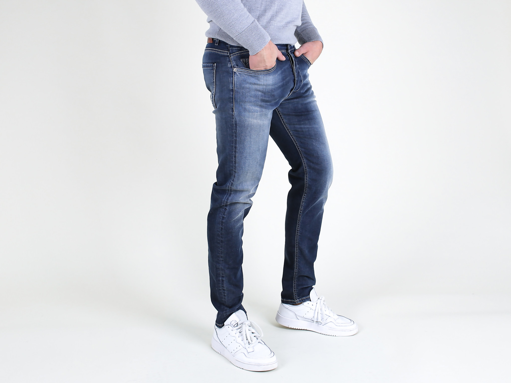 Fifty Four Fifty Four Rages J341 FA55 Slim Jeans Washed Blue