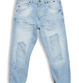 Gabba Denim Gabba Alex K2614 Leo Cropped Jeans Damaged Bleached Blue
