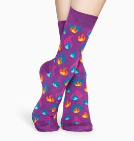 Happy Socks Happy Socks FLM01-5300 Flames Sock Purple