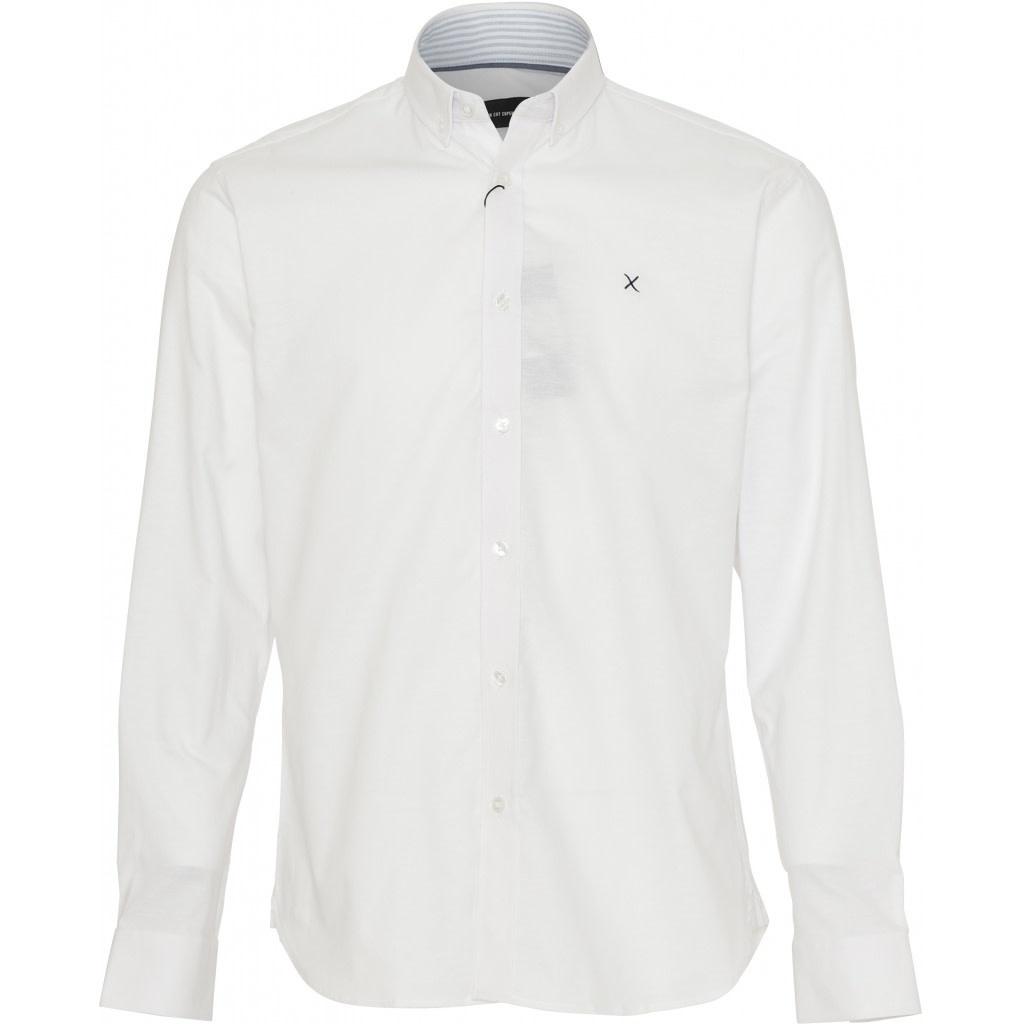 Clean Cut Clean Cut Copenhagen Oxford Plain Shirt White