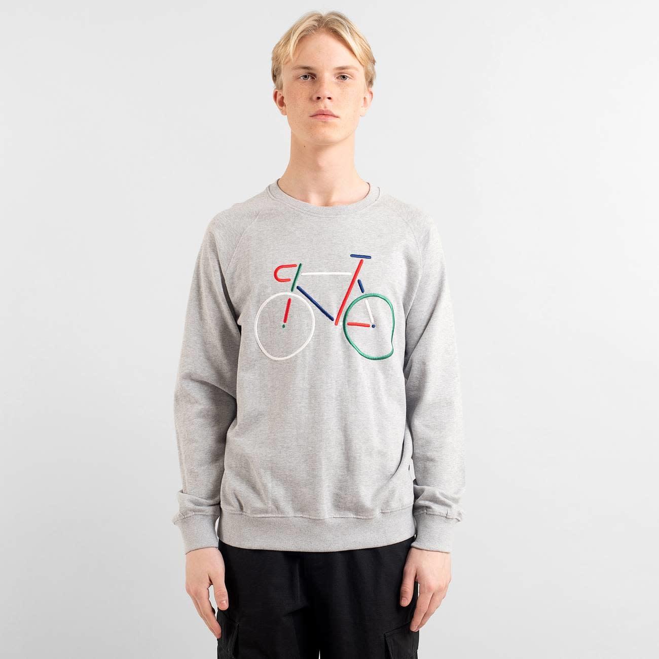 Dedicated Dedicated Malmoe Colour Bike Sweater Grey