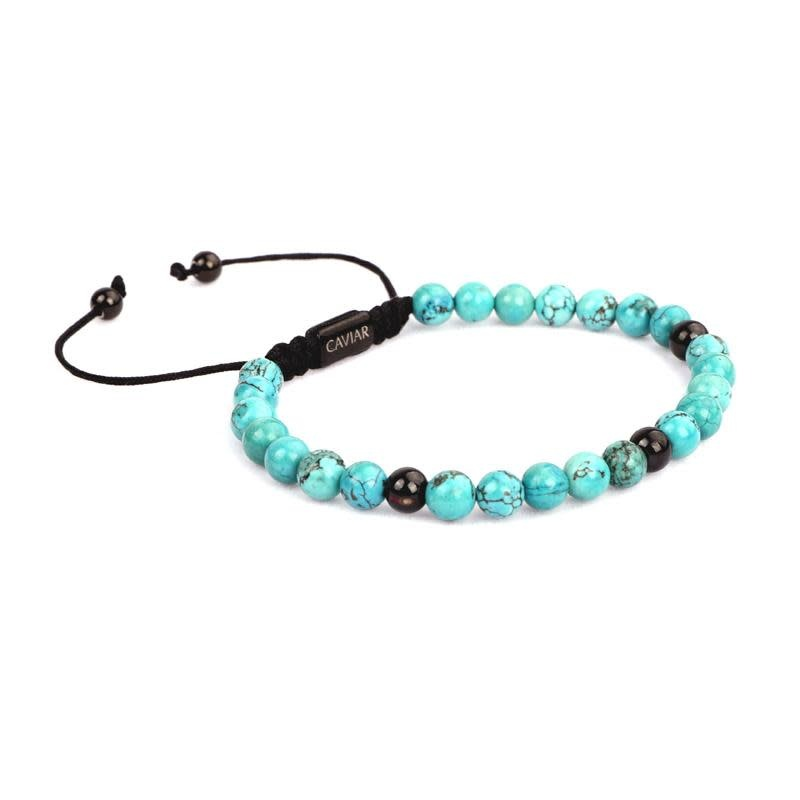 Caviar Collection Caviar Vintage Serie Armband Cyan/Gun Black