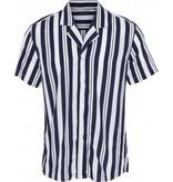 Clean Cut Clean Cut Bowling 6 S/S Shirt White/Navy